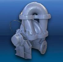 Double stage split casing centrifugal pump